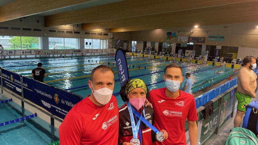 Pepa García, doble subcampeona de España en natación máster
