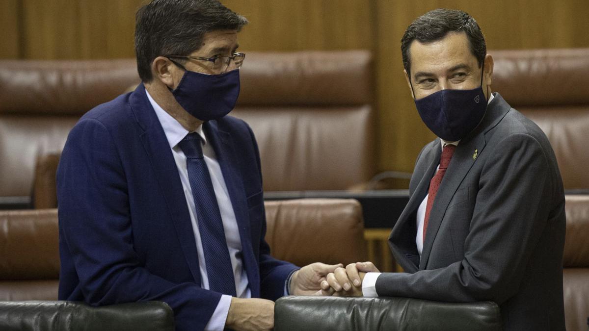 Juanma Moreno junto a Juan Marín en una imagen de archivo.