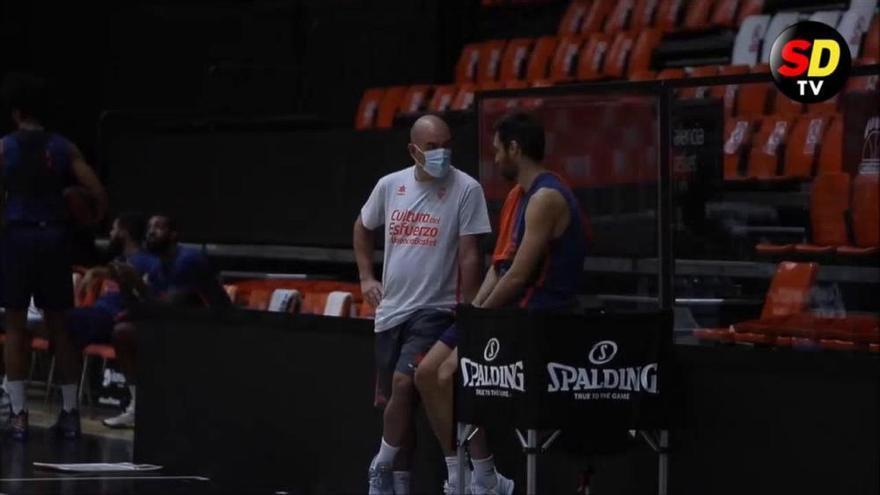 Entrenamiento del Valencia Basket