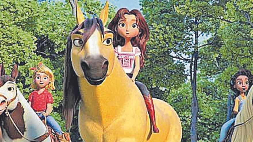 Un caballo muy domado