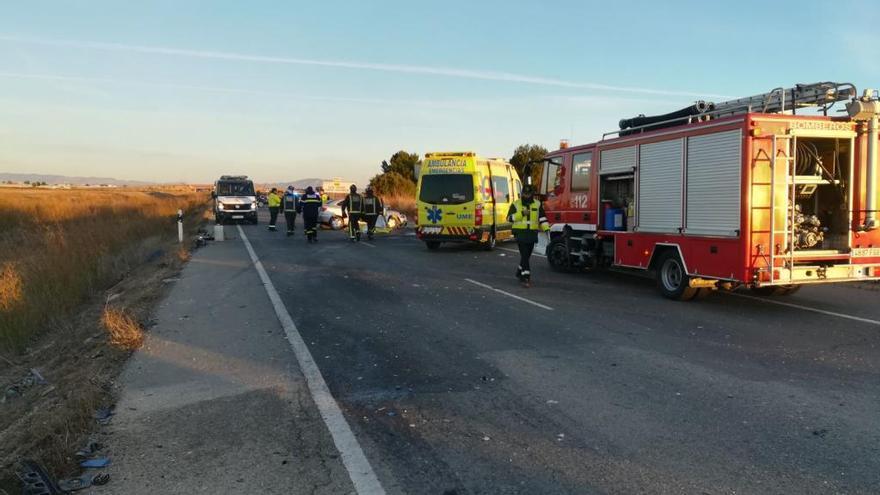 Dos fallecidos y ocho heridos en un accidente en Torre Pacheco
