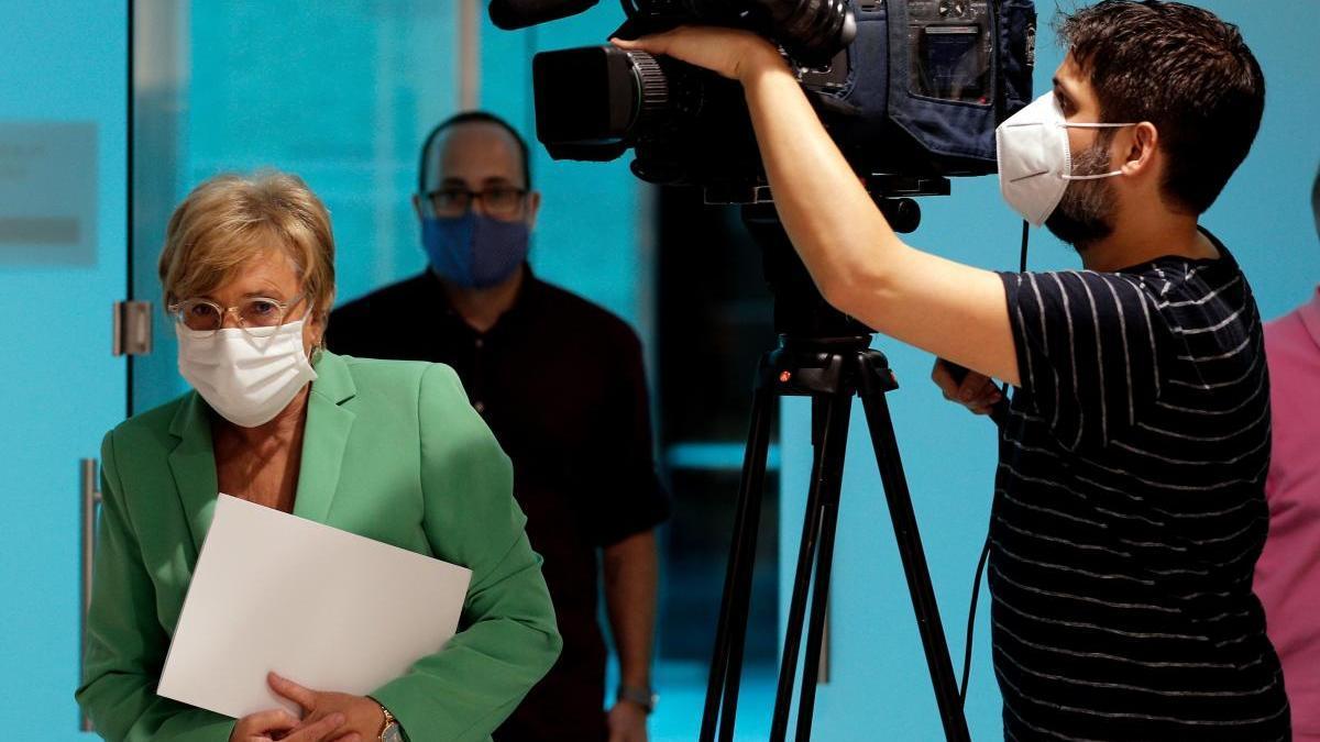 La consellera Ana Barceló, ayer durante la rueda de prensa.