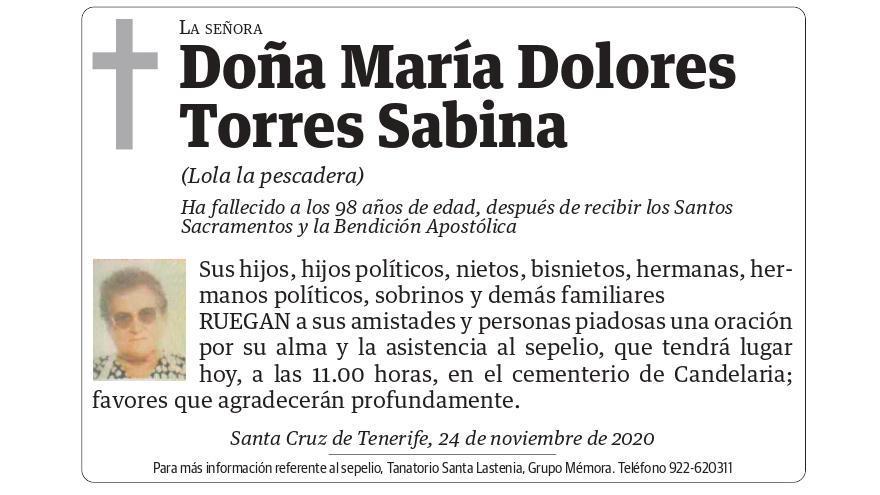 María Dolores Torres Sabina