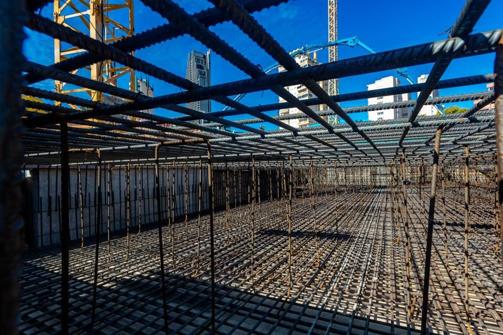 Cimentación de un nuevo rascacielos en Benidorm