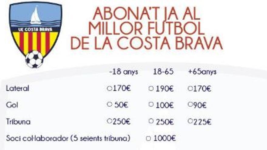 La Unió Esportiva Costa Brava estrena nom i campanya d'abonaments