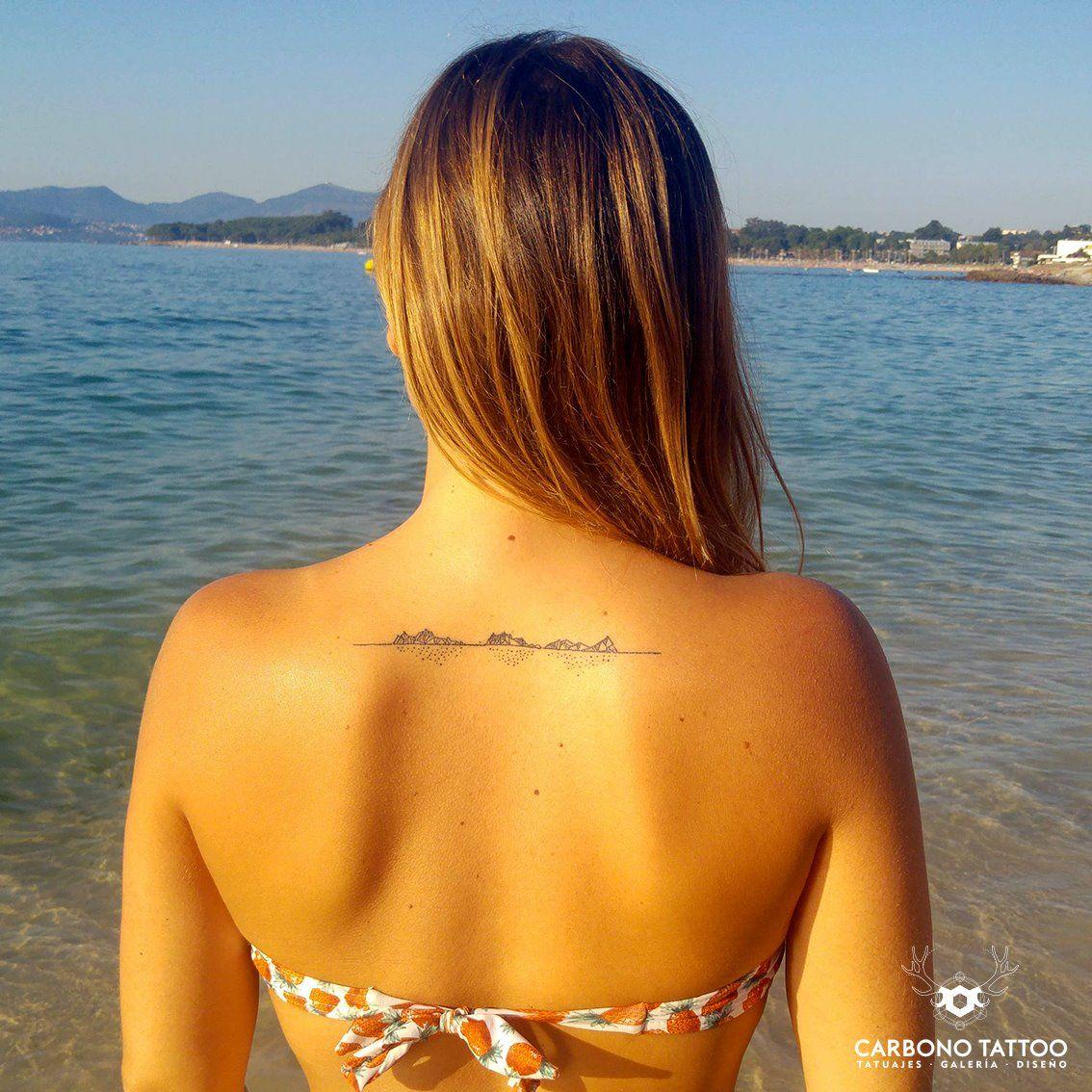 Islas Cíes geométricas// Miguel Castro (Carbono Tattoo)
