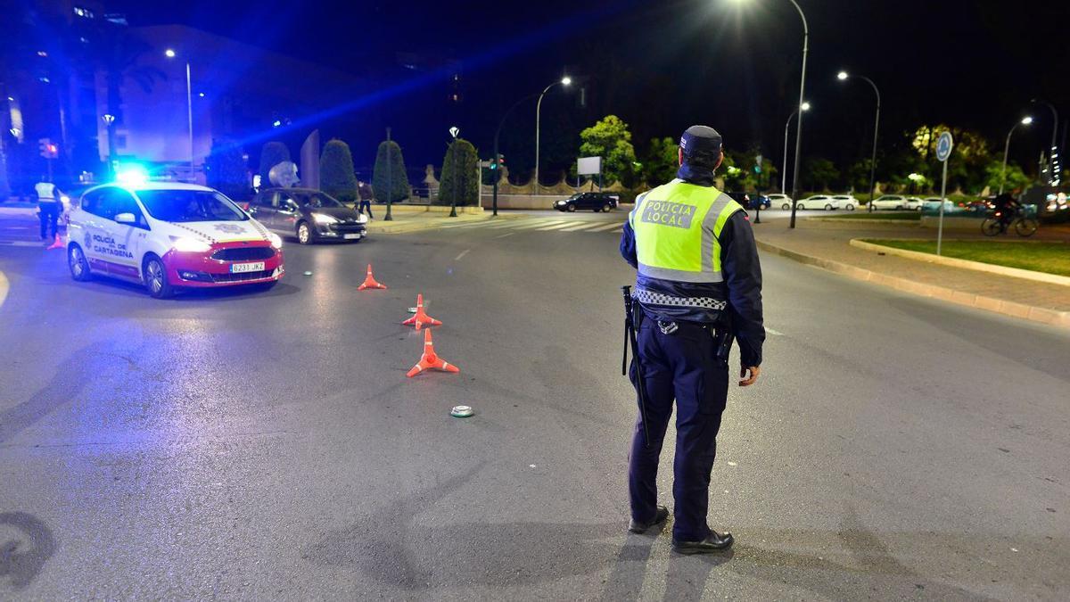 Control de la Policía Local de Cartagena.