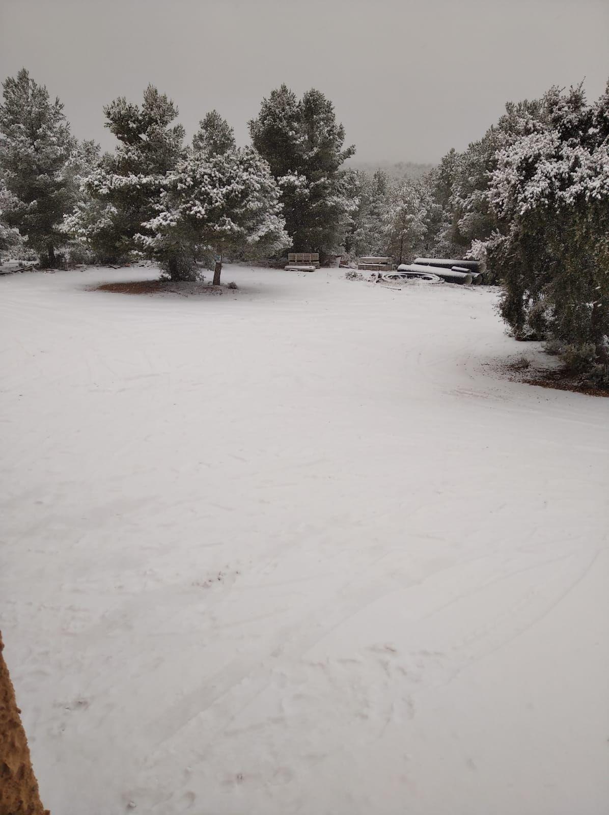 Nieve en Requena y Utiel