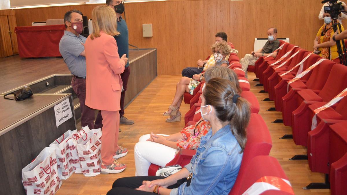 Acto de clausura del curso, en la Casa de Cultura de Benavente. / E. P.