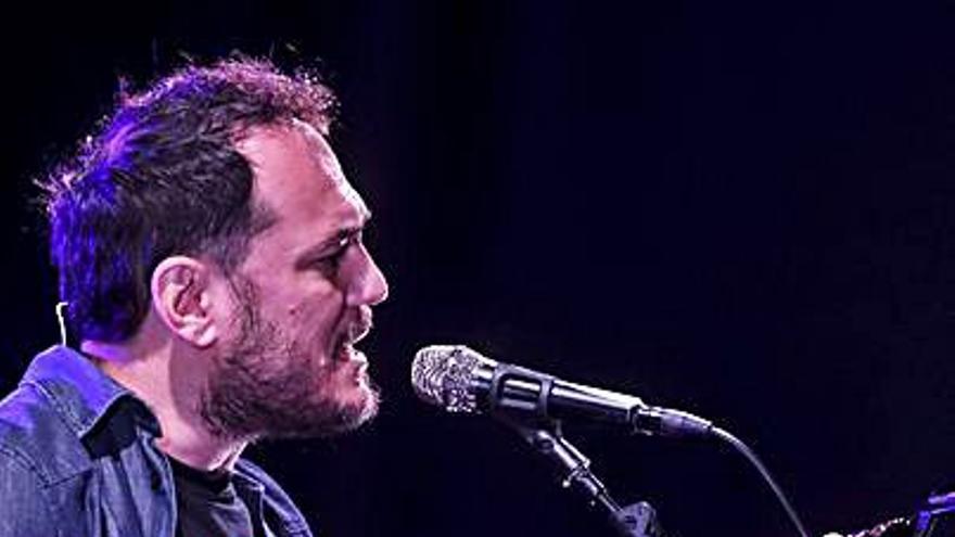 Ismael Serrano, en octubre, en Gijón