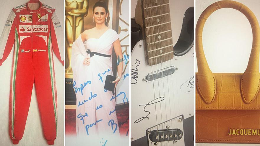 La rifa solidaria de Inditex: 20 euros por el vestido de Penélope Cruz o la guitarra de Coldplay