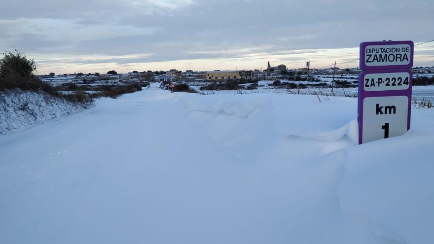 El temporal Filomena deja algunos pueblos de Zamora aislados por la nieve