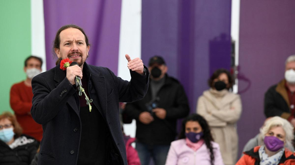 Pablo Iglesias, en un acto en Collado Villalba