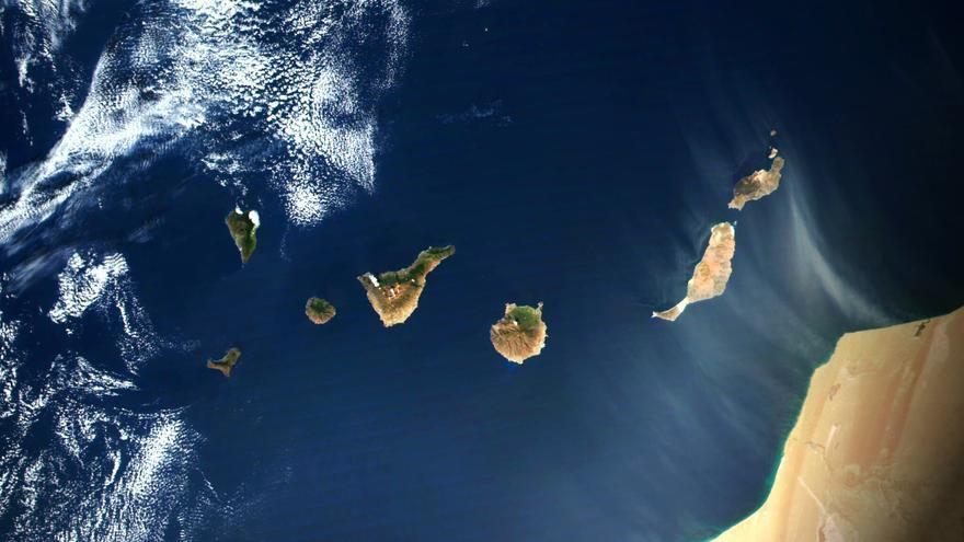 Así se ve Canarias desde el espacio con los cielos despejados