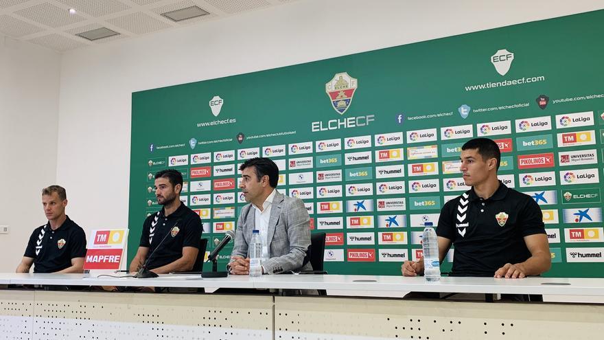 """Barragán, """"Ruso"""" Rodríguez y Diego González destacan la ilusión y la ambición del Elche"""