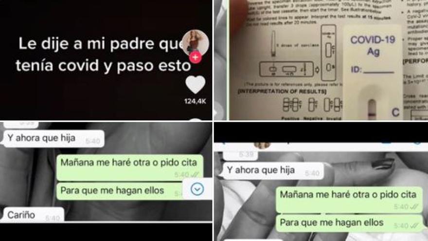 """La conversación viral entre padre e hija por WhatsApp: """"Le dije que tenía covid y pasó esto"""""""