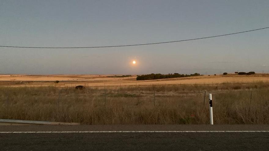 Puesta de sol de principios de septiembre en Zamora