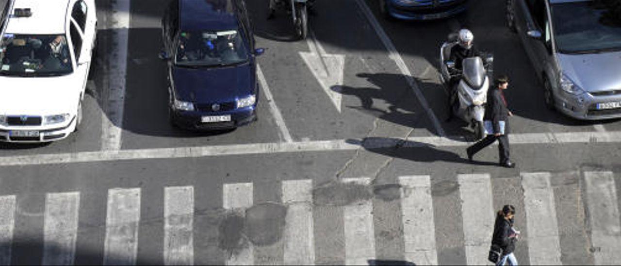 Imagen de archivo de un paso de peatones