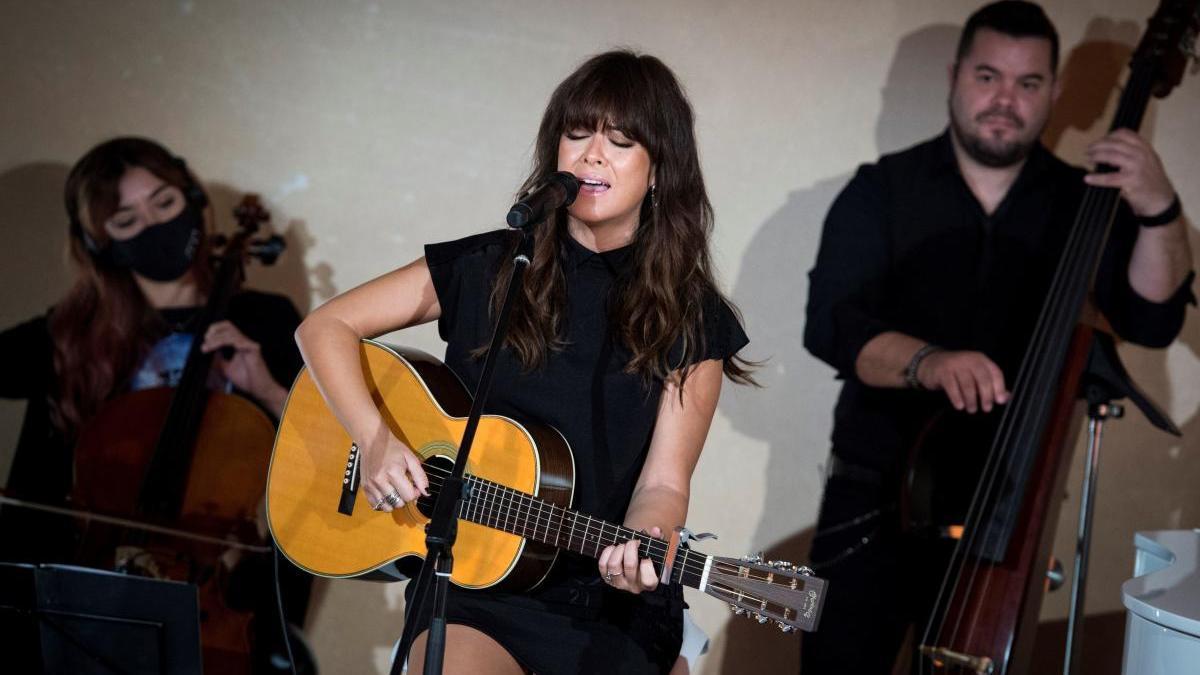 Una imagen de Vanesa Martín durante un concierto.