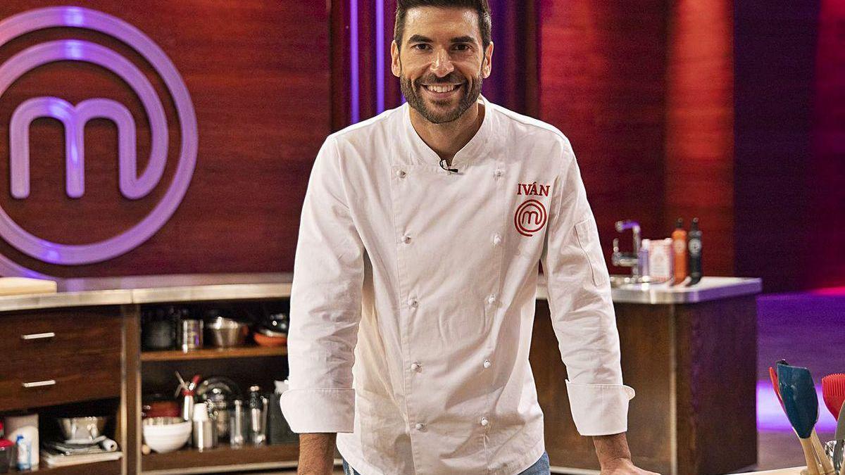 El cocinero coruñés Iván Mariñas, en 'MasterChef'.