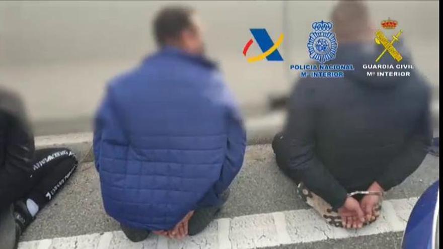 Detenidos en Málaga siete narcotraficantes con 843 kilos de hachís