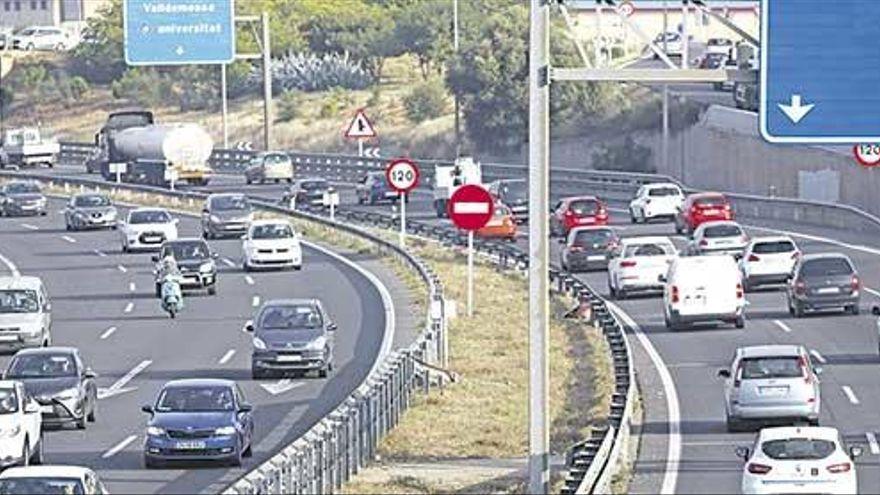 El Consell reduce la velocidad de la vía de cintura para reducir la contaminación