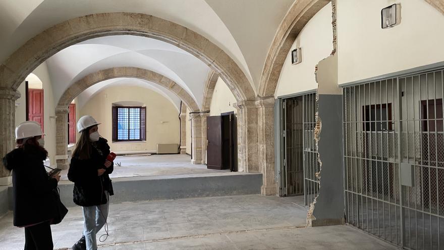 Las obras del edificio del TSJCV recuperarán el forjado del siglo XVIII