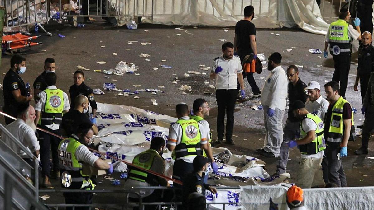 Una allau humana en una festa jueva a Israel causa almenys 45 morts
