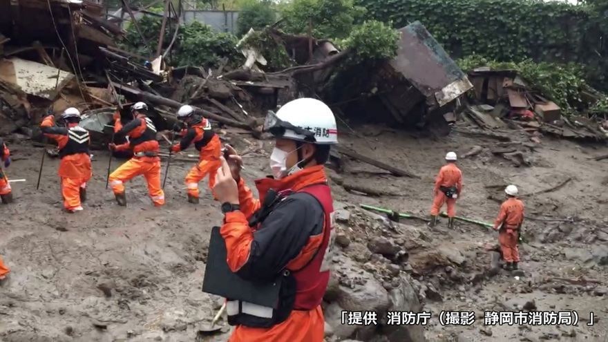 Aumentan a cuatro los muertos y a más de 100 los desaparecidos por un alud en Japón