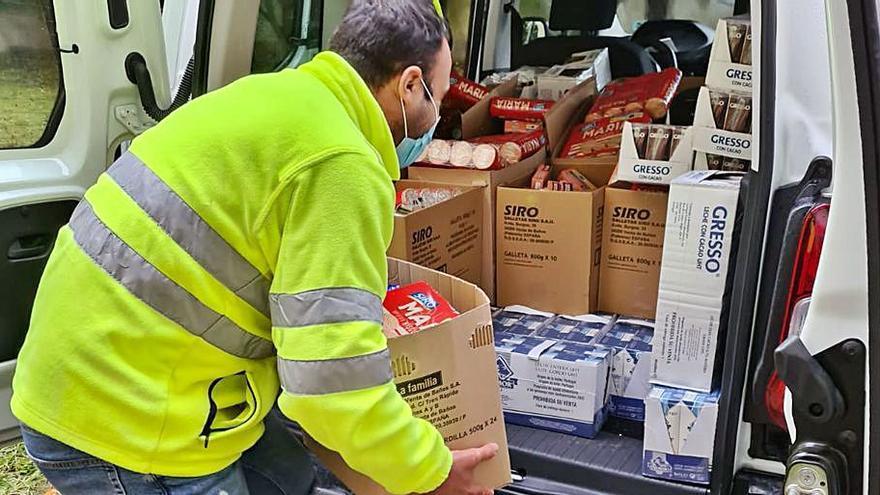 Porriño entrega alimentos entre 430 familias necesitadas