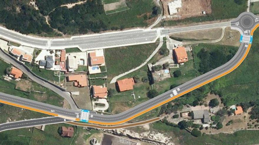 El proyecto del acceso sur al puerto de A Guarda, paralizado