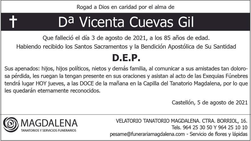 Dª Vicenta Cuevas Gil