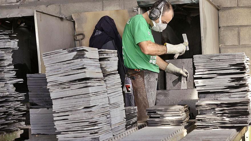 Ourense aporta el 59% de las empresas de pizarra y el 56% de las canteras
