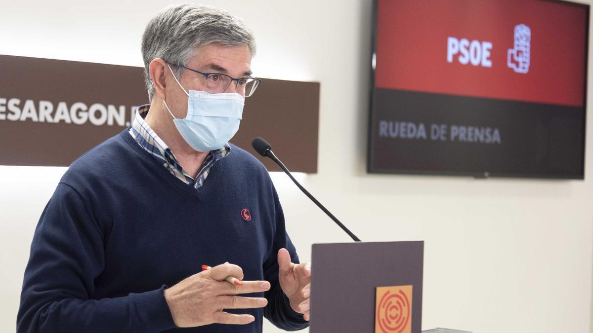 Vicente Guillén, durante su comparecencia este martes.