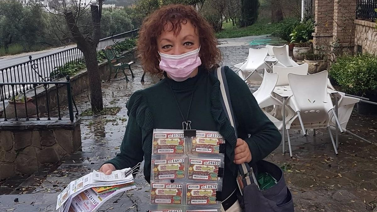 Yolanda Román, vendedora de la ONCE.