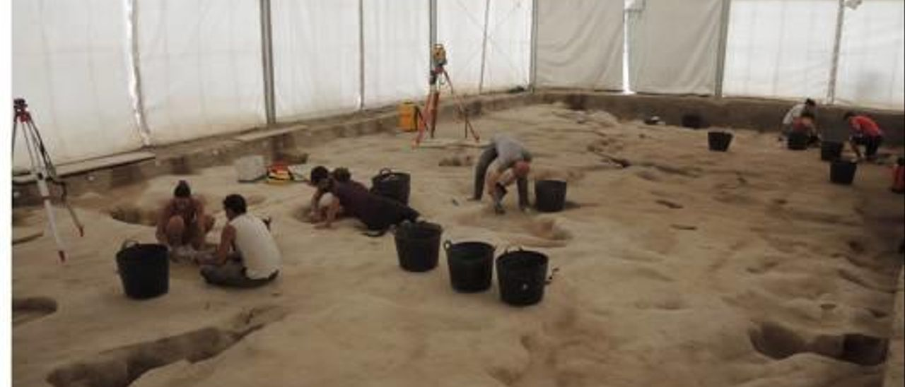 Excavaciones en Villena.