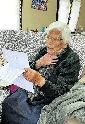 Rosa Olivera Fernández (98 años), de Sejas.   Ch. S.