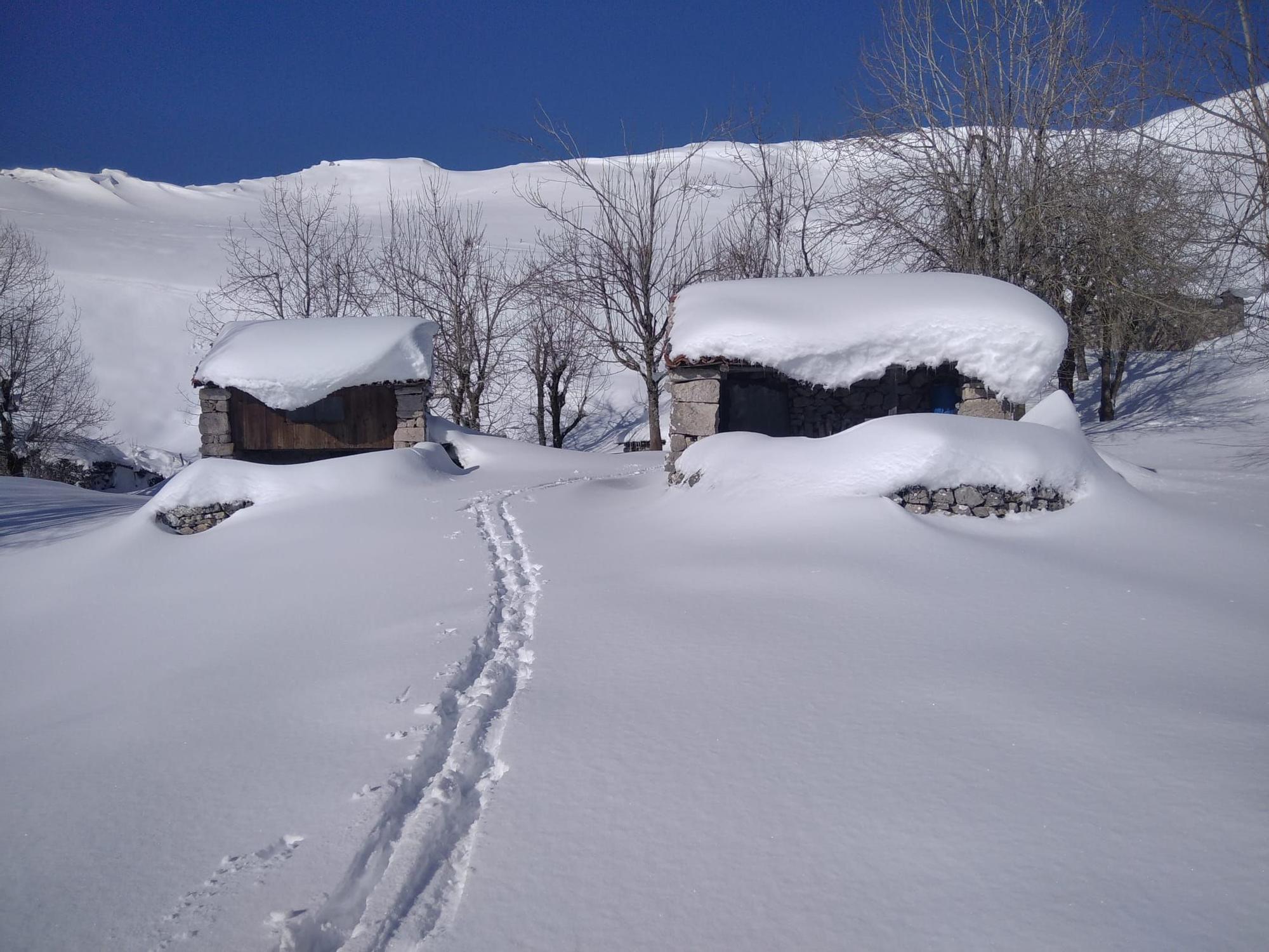 El Cuera, cubierto de nieve