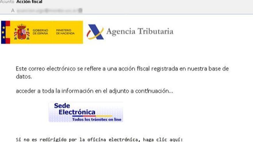 Alerten d'un fals correu de l'Agència Tributària amb un virus en l'inici de la campanya de la renda