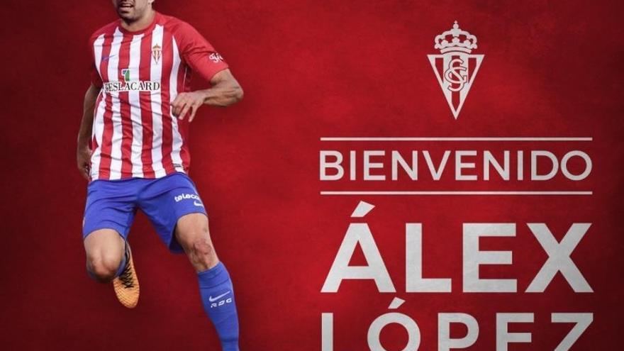 El Sporting de Gijón da la bienvenida a Álex López
