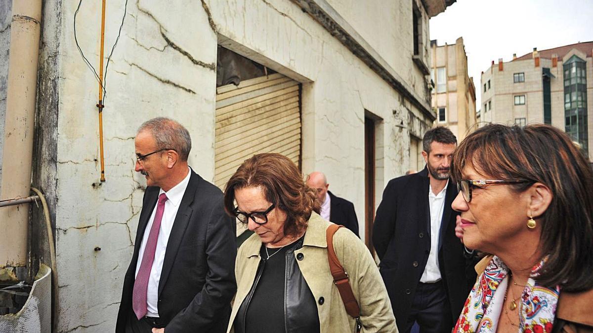 La delegada del Plan sobre Drogas, María Azucena Martí, en una visita a Vilagarcía. |   // IÑAKI ABELLA