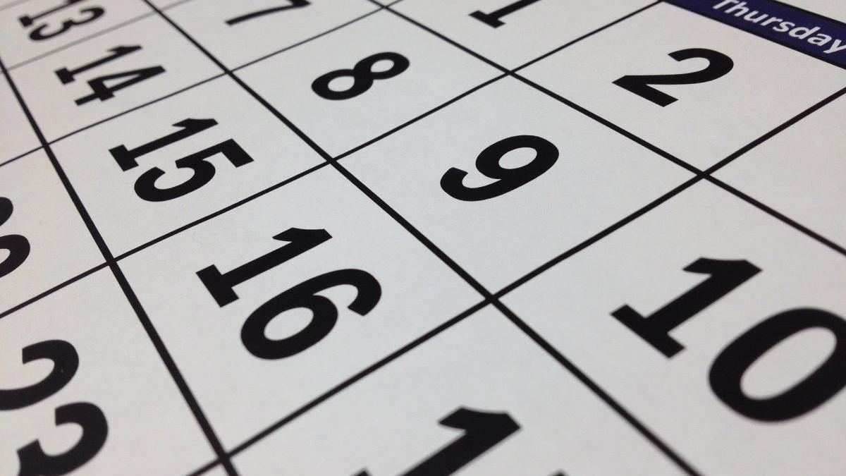 Calendario escolar para el curso 2020 / 2021 en Málaga.