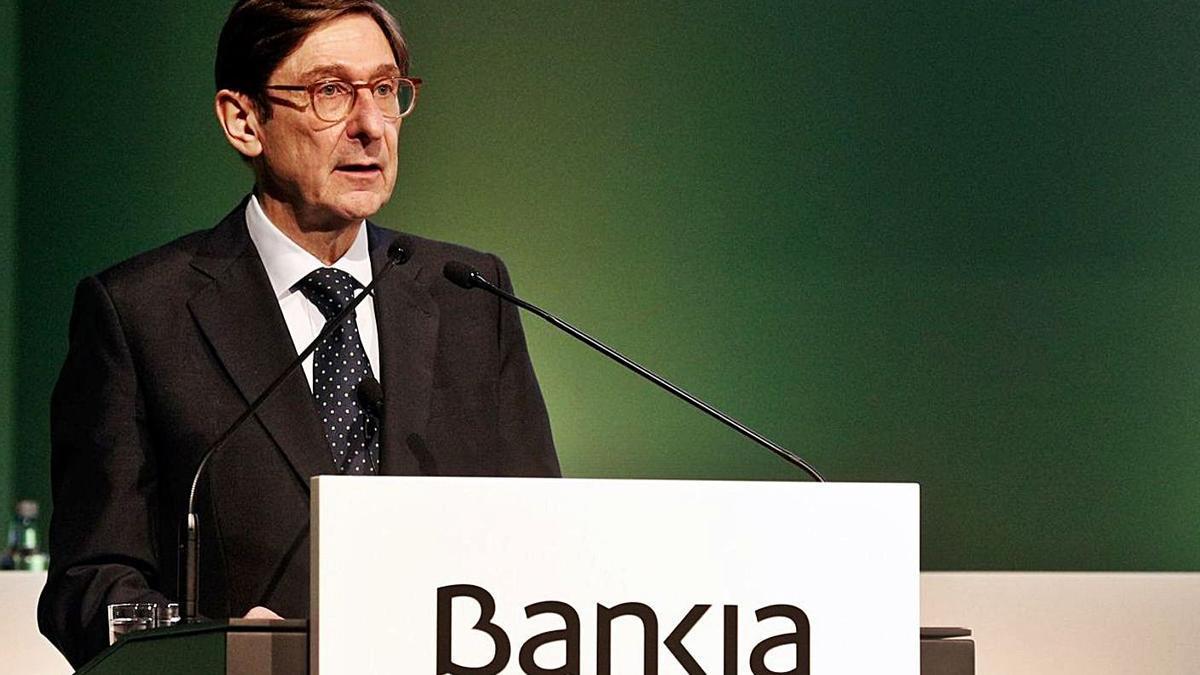José Ignacio Goirigolzarri, presidente de Bankia, ayer.   LEVANTE-EMV