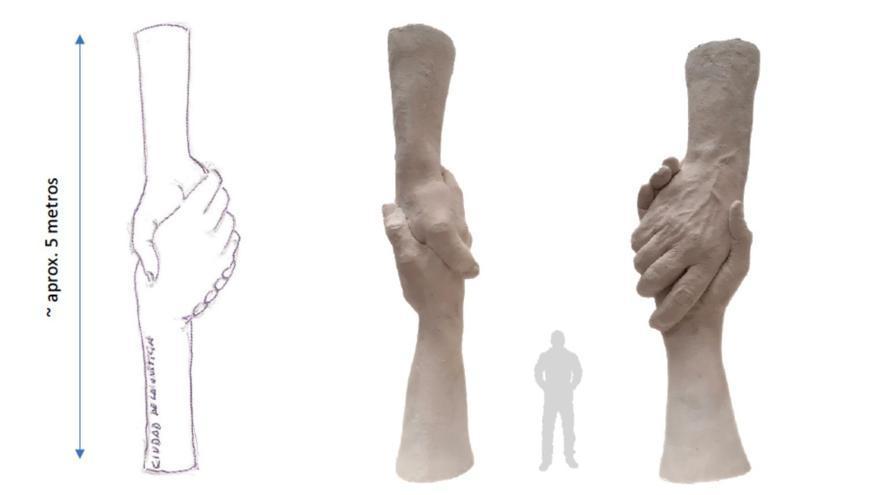 La escultura que coronará la Ciudad de la Justicia
