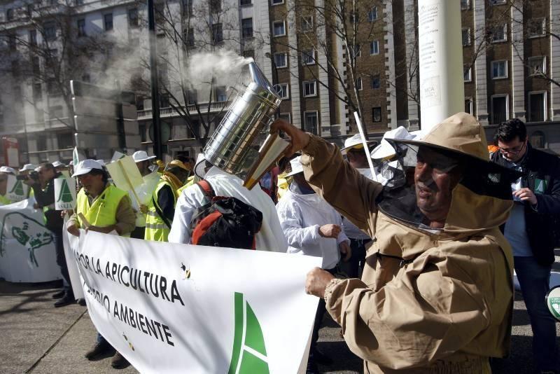 Manifestación del sector agrario aragonés