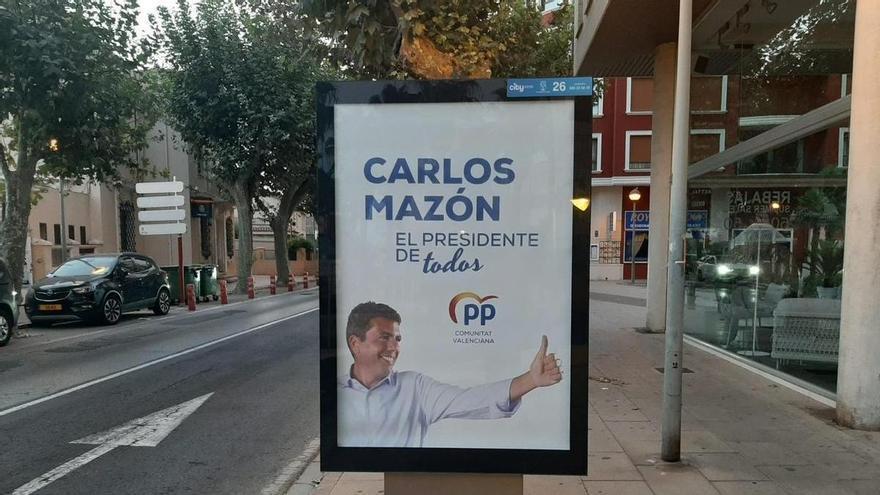 El PP instala vallas publicitarias con la imagen de Mazón para ganar visibilidad ante un posible adelanto electoral
