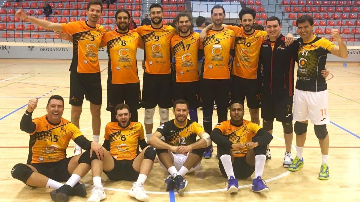 Equipo del CV Muro, que era líder del Grupo C de la Primera División masculina.