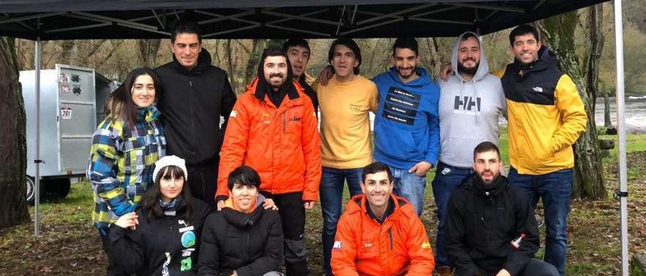 Imagen de los pilotos que se dieron cita en la competición de Leiro.