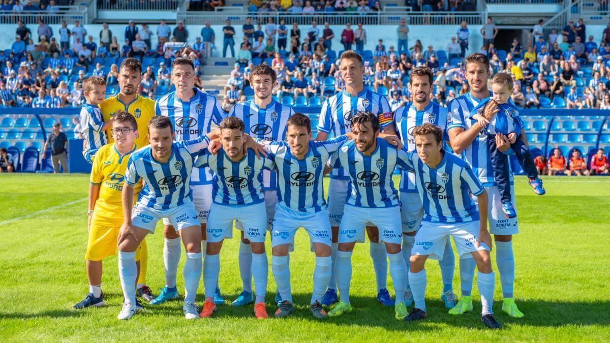 Un once del Atlético Baleares de esta temporada.