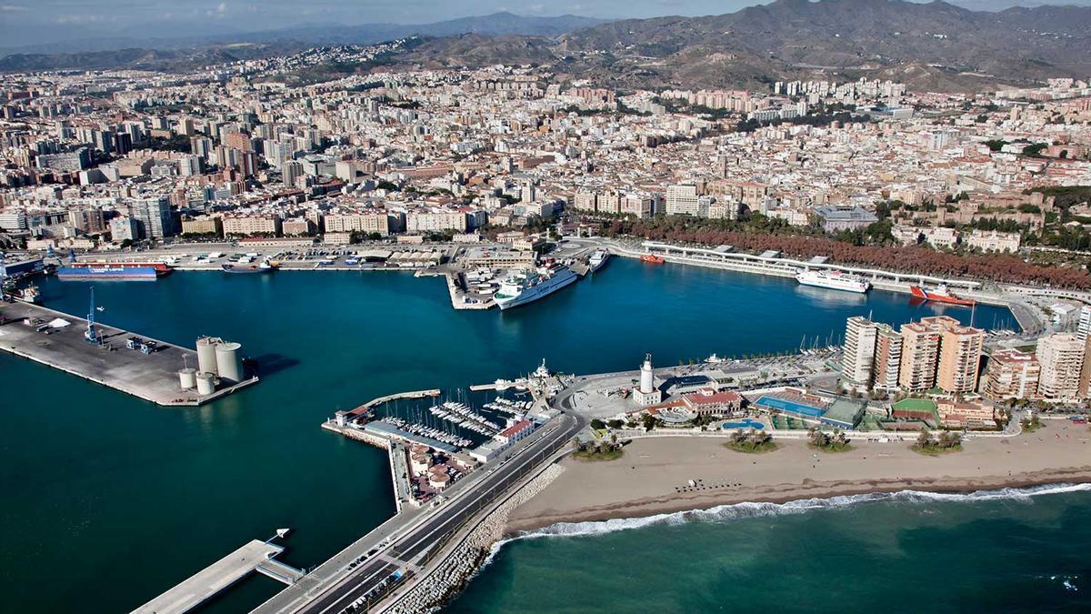 Panorámica de la ciudad de Málaga